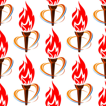 Seamless pattern with torch fire for sports design Vector