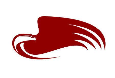 adler silhouette: Leistungsstarke Adler mit roten Flügel Illustration