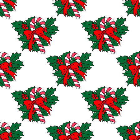 candy stick: Christmas candy stick seamless pattern for holiday background design