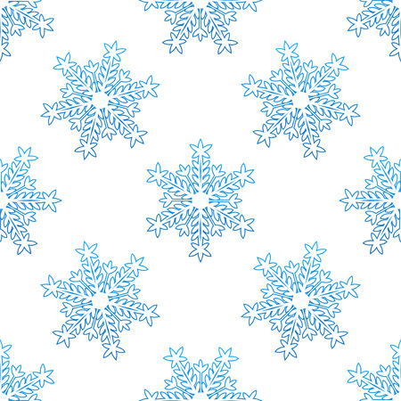 Seamless background with blue snowflakes for seasonal design Vector
