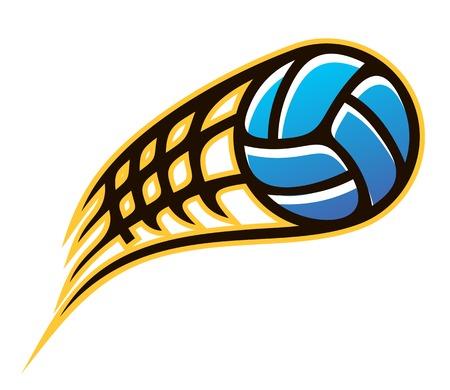 balon de voley: El exceso de velocidad la bola volando por el aire con las líneas de movimiento Vectores