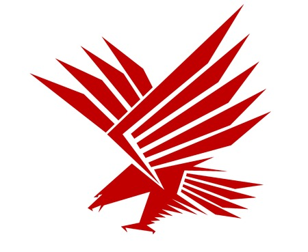 Red falcon for mascot or tattoo design Vector