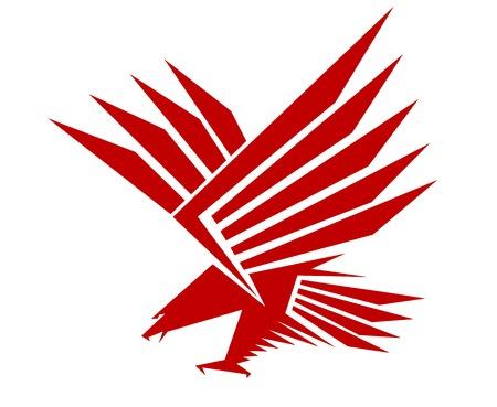Red falcon for mascot or tattoo design Illustration