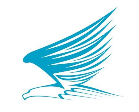 Flying eagle for emblem or mascot design Illustration