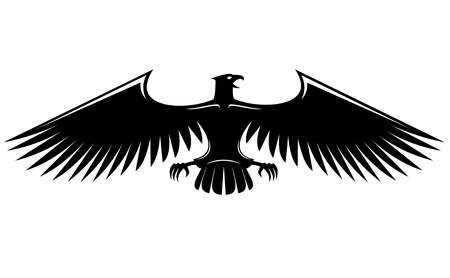 Heraldic eagle isolated on white