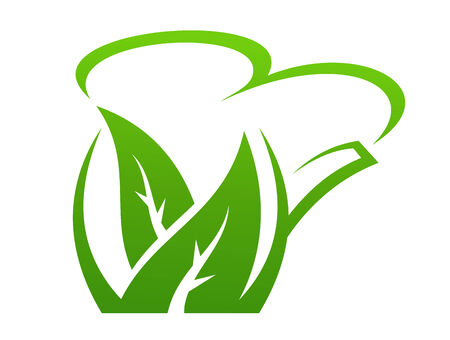 illustration of fresh green bio or organic leaves depciting healthy eating and lifestyle and conservation of nature, the planet and the ecology Vector