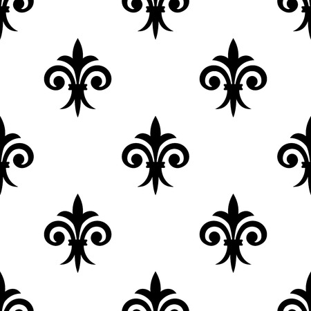 lys: Fleur de lys seamless pattern background for any medieval design or wallpaper