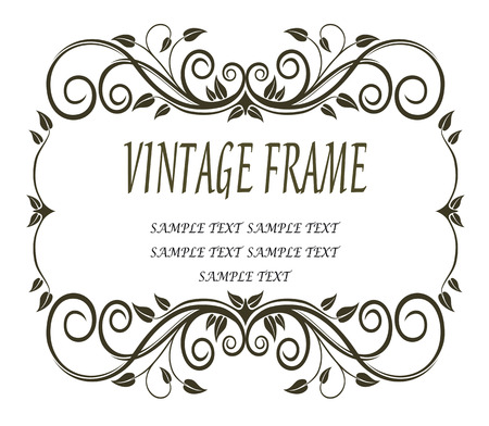 curlicues: Vintage frame with curlicues and swirls
