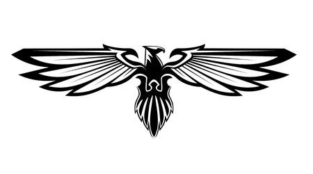 Aigle majestueux pour la conception héraldique Banque d'images - 25537386