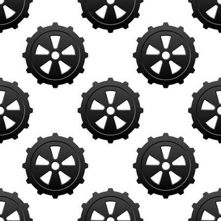 Gear and pinion seamless pattern for industrial design Illustration