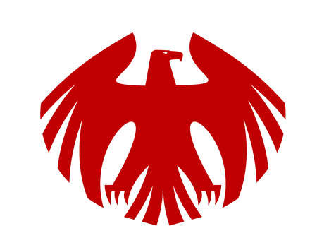 fierce: Fierce red eagle heraldic silhouette