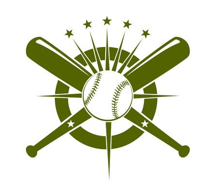 野球選手権アイコン  イラスト・ベクター素材