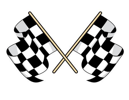 Zielflaggen-Symbol für den Motorsport-Design Standard-Bild - 26153977