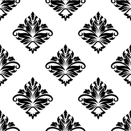 diamond shaped: Geometric arabesque pattern with a diamond shaped floral motif in a repeat seamless design