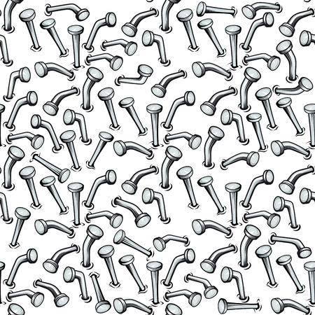 Seamless background pattern of bent nails  Illustration