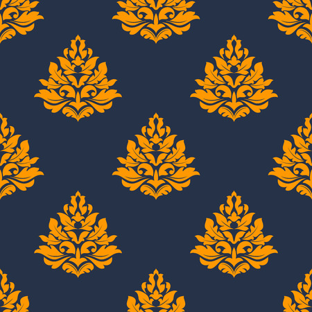 Elegant seamless pattern with blurу background and yellow floral elements
