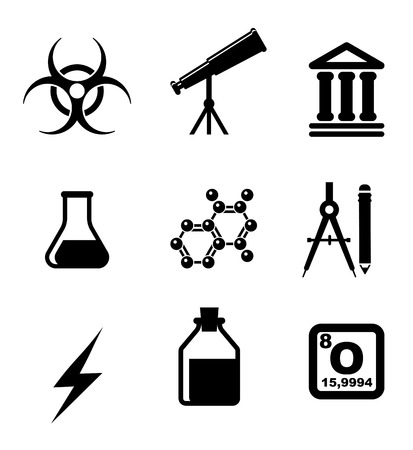 Science icons and symbols set Vector