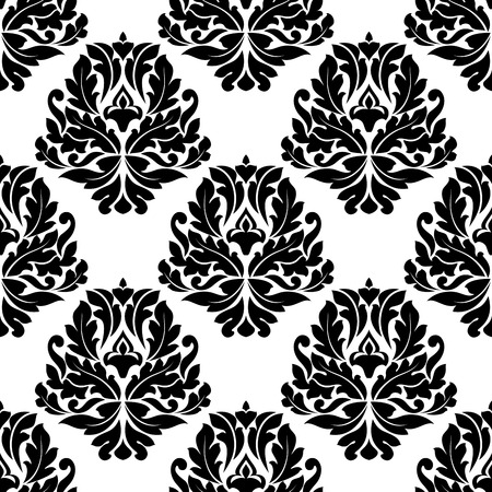 dainty: Dainty seamless pattern in damask style for background design Illustration
