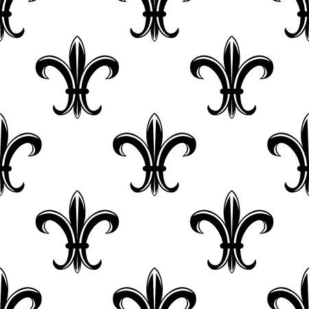 lys: Retro fleur de lys seamless pattern for heraldic background design Illustration