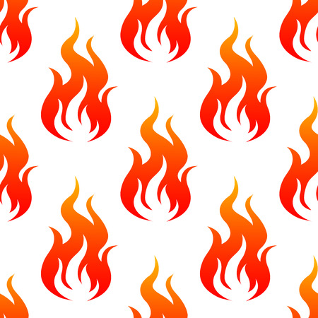 hotter: Leaping burning fiery flames seamless background pattern with a repeat motif in square format
