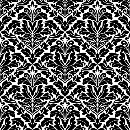 ornated: Bold damask seamless pattern with ornated floral elements and motifs