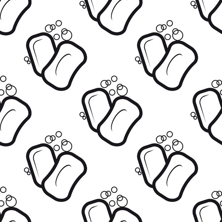 scent: Seamless pattern of soap with bubbles