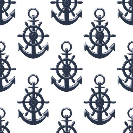 ancre marine: Mer ancre, seamless, pour la conception de fond marin et nautique