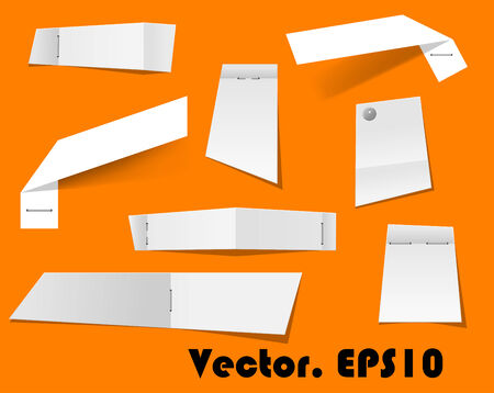 Paper scraps and notes attached with stapler for any office, business or remind cocnept design Vector
