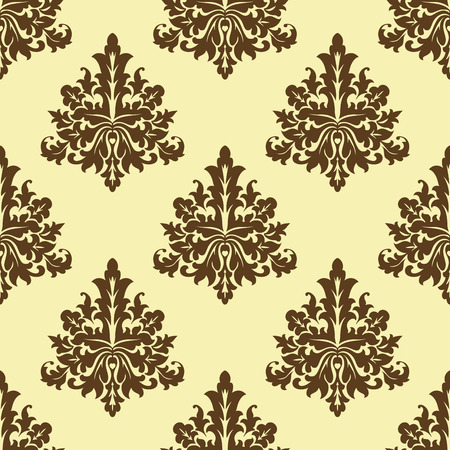 arabesque pattern: Color patr�n arabesco floral marr�n incons�til