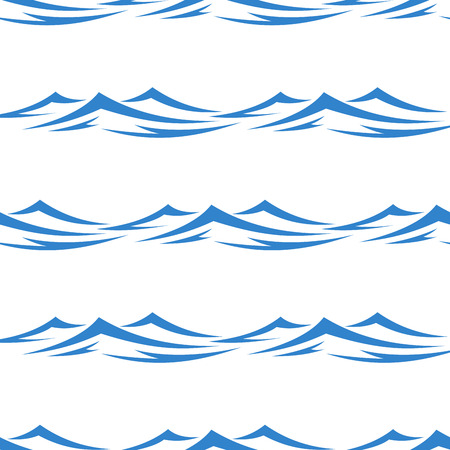 undulating: Undulating blue ocean an sea waves seamless background pattern in square format for textile or wallpaper design