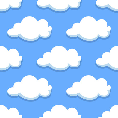cloud shape: Sky seamless pattern with white clouds for background or wallpaper design