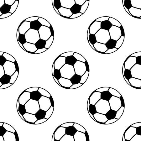 デザインのスポーツのためのフットボールまたはサッカー ボールとのシームレスなパターン  イラスト・ベクター素材