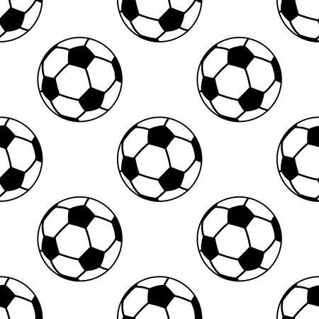 Seamless pattern with football or soccer balls for sporting design