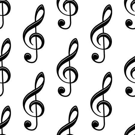 notation: Seamless musical treble clef icon pattern for musical and art design