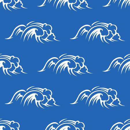 aqueous: Sull'oceano o sul mare onde senza soluzione di modello con il surf Pentecoste, per la marina e design nautico