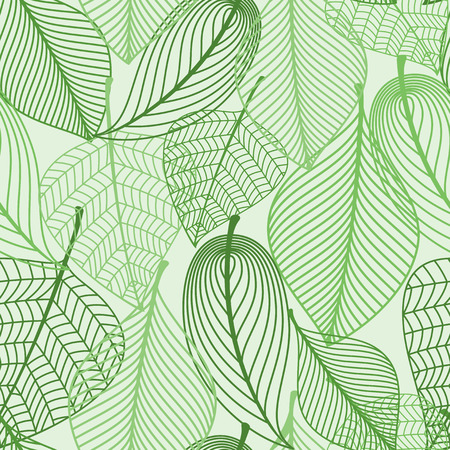 Summer or spring foliage green tree leaves seamless pattern background. For wallpaper, tiles and fabric design