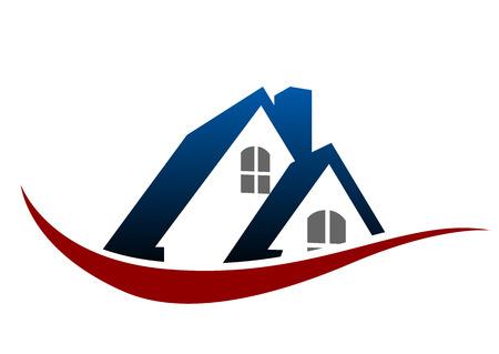 Hausdach als Symbol der Immobilienwirtschaft Design Standard-Bild - 31646301