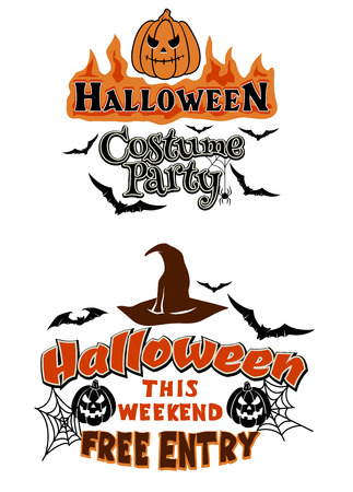 Halloween Party Graphics with scary and fear elements for holiday design Vector