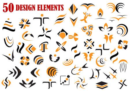 Abstract geometric shape graphic elements and symbols set for web, decoration and design Vector