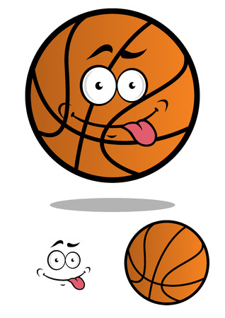 Funny cartooned basketball ball isolated on white for sports design Vector