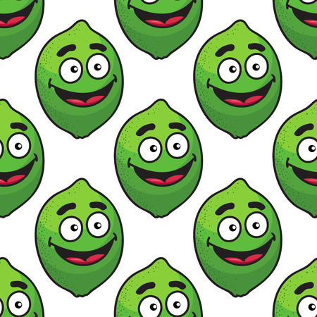 cartooned: Cartooned green avocado seamless pattern for agriculture or food design