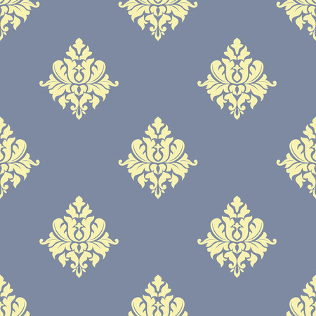 sparse: Floral seamless pattern with sparse yellow flowers on stylish light blue background for wallpaper or textile design