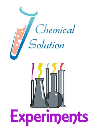 a solution tube: Chemical flasks and test tubes showing glassware in laboratory and a chemical solution in a test tube