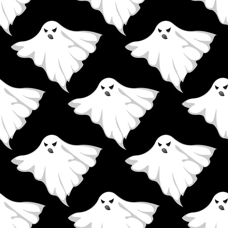 eerie: Danger ghosts seamless pattern for halloween or any eerie design