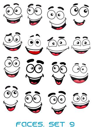 Glück und lächelnde Menschen Gesichter mit guten Gefühle für jeden Charakterdesign Standard-Bild - 37342241