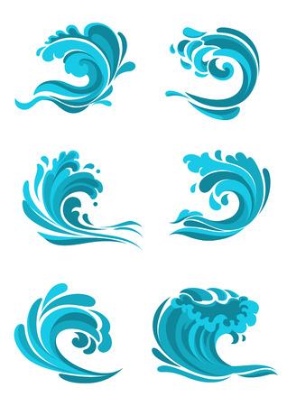 Se mer et vagues de l'océan bleu pour l'utiliser comme l'environnement, la nature ou l'élaboration du concept de l'écologie