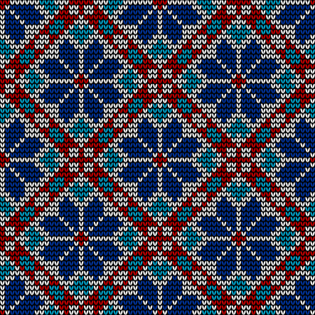 Close up seamless norwegian embroidered winter pattern with snowflakes Illustration