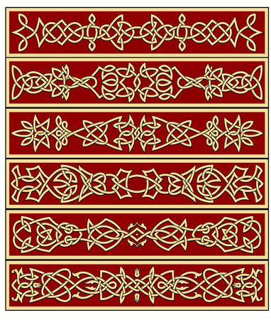embellishments: Borders and frames in celtic ornament style for ornate and embellishments