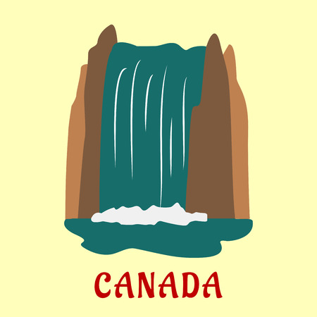 waterfall: Canadian landmark travel design with high waterfall