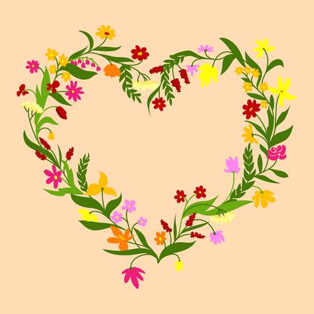 champ de fleurs: Champ des fleurs cadre Illustration